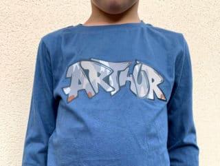 """T-shirt Arthur """"street art"""""""