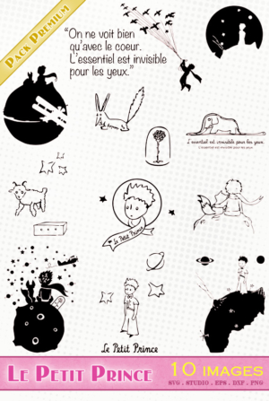 Le Petit Prince – 10 images svg/studio/png/dxf/eps