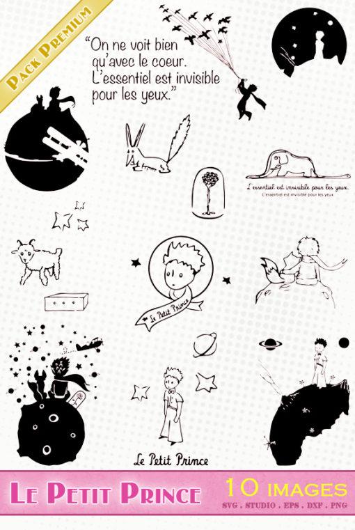 petit prince little principito svg png silhouette studio eps dxf fichier vectoriel